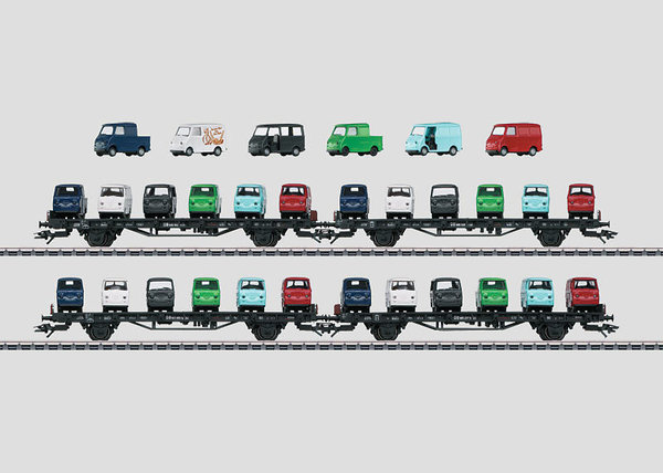 Märklin MHI Autotransportwagen-Set Goggo DB 45099