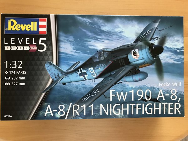 Revell Focke Wulf Fw190A-8, A-8/R11 Nightfighter 1:32 03926