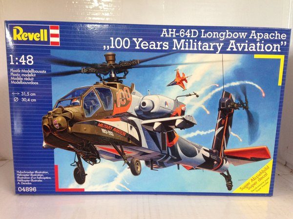 Revell AH-64D Longbow Apache 100 Years Military Aviation 1:48 04896