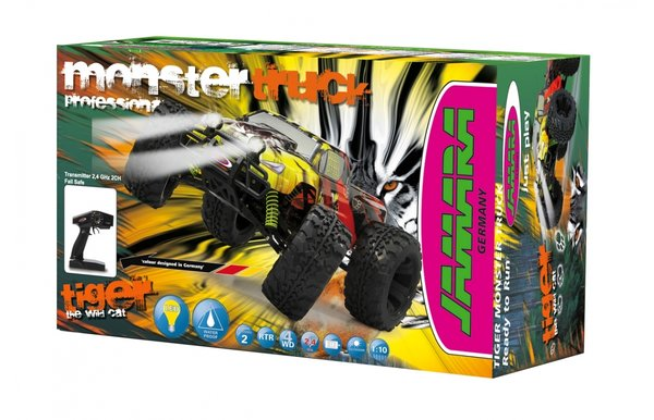 Jamara Tiger RTR 2,4 Ghz LIPO Monstertruck 4WD LED 503854