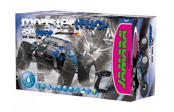 Jamara Tiger Ice RTR 2,4 Ghz BL LIPO Monstertruck 4WD LED 053362