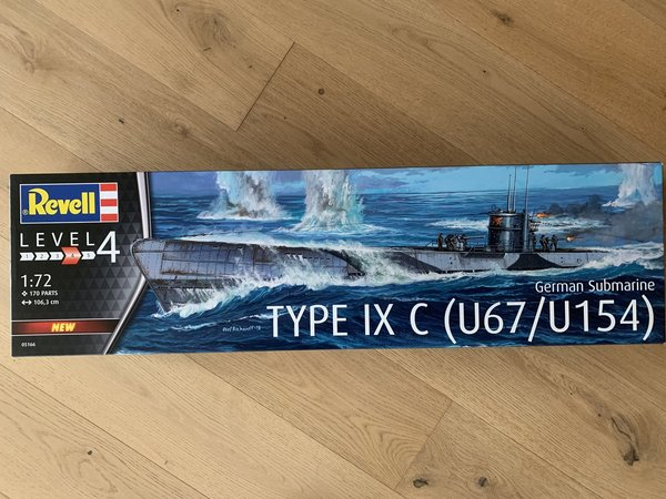 Revell German Submarine Type IXC U67/U154 1:72 05166