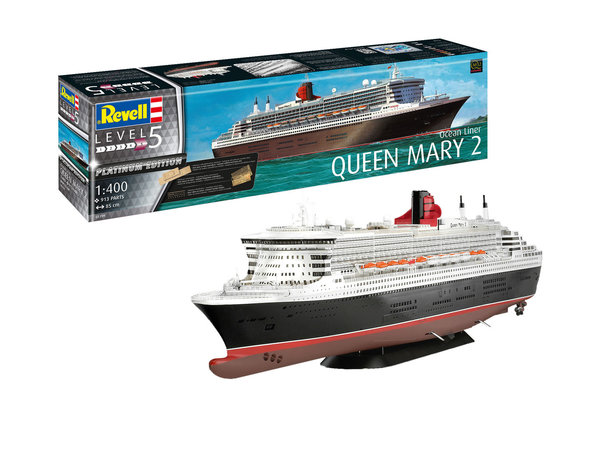 Revell Queen Mary 2 Platinum 1:400  05199