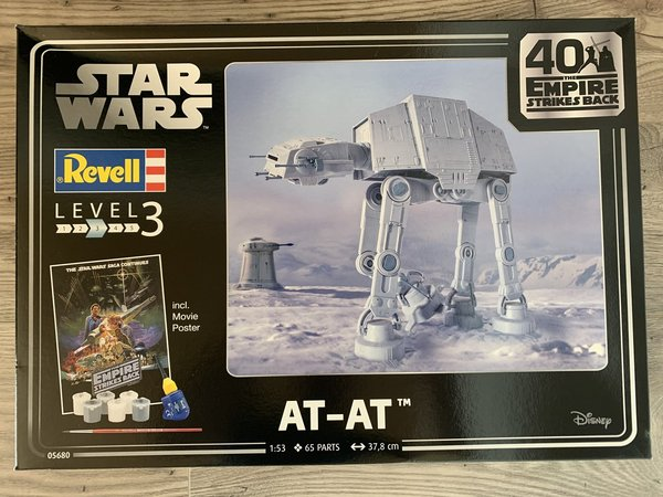 "Revell Star Wars AT-AT 40th Anniversary ""The Empire Strikes Back"" 1:53 05680"