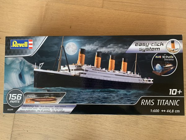 Revell RMS Titanic Easy Click mit Eisberg (3D Puzzle) 1:600 05599